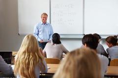 Insegnante all'università Immagine Stock