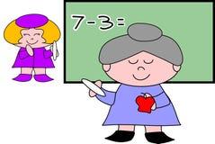 Insegnante alla lavagna illustrazione vettoriale