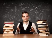 Insegnante che ritorna a scuola Immagine Stock