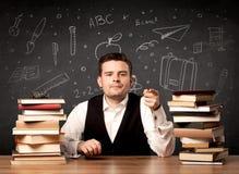 Insegnante che ritorna a scuola Immagini Stock