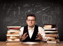 Insegnante che ritorna a scuola Fotografia Stock Libera da Diritti