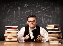 Insegnante che ritorna a scuola Fotografie Stock Libere da Diritti
