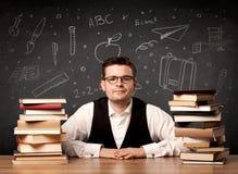 Insegnante che ritorna a scuola Immagini Stock Libere da Diritti
