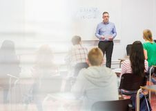 Insegnante With Class Immagini Stock