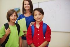 Insegnante con gli allievi Fotografie Stock