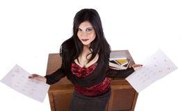 Insegnante con i documenti classificati Immagine Stock Libera da Diritti
