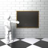 Insegnante con la lavagna Fotografia Stock Libera da Diritti