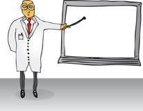 Insegnante con la scheda in bianco Immagini Stock Libere da Diritti