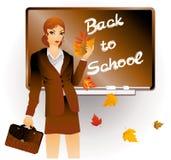 Insegnante con un portafoglio Fotografia Stock