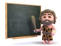 insegnante del cavernicolo 3d Immagine Stock
