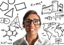 Insegnante del genio Immagini Stock