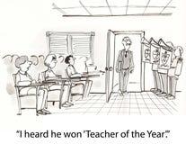 Insegnante dell'anno Fotografia Stock Libera da Diritti