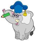 Insegnante dell'elefante di scrittura illustrazione vettoriale