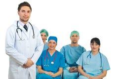 Insegnante dell'uomo del medico in un'aula Immagini Stock Libere da Diritti
