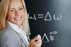 Insegnante della giovane donna Immagine Stock Libera da Diritti