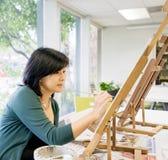 insegnante della pittura di arte fotografia stock libera da diritti