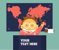 Insegnante di geografia Immagini Stock