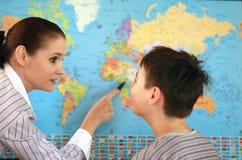 Insegnante di geografia Immagine Stock