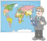 Insegnante di geografia alla lezione Fotografia Stock