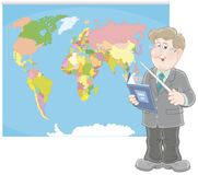 Insegnante di geografia alla lezione Immagini Stock Libere da Diritti