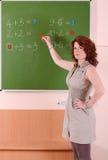 Insegnante di matematica fotografia stock libera da diritti