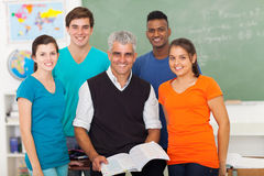 Insegnante di studenti della scuola Immagine Stock Libera da Diritti