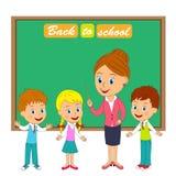 Insegnante e bambini Fotografia Stock Libera da Diritti