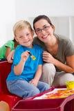 insegnante e preschooler Immagine Stock Libera da Diritti