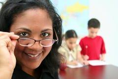 Insegnante ed allievi Fotografia Stock Libera da Diritti