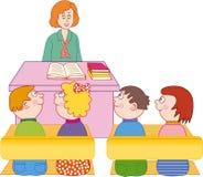 Insegnante ed allievi Immagine Stock