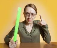 Insegnante femminile pazzesco immagine stock libera da diritti
