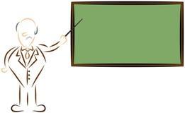Insegnante stilizzato Immagine Stock