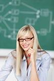 Insegnante a trentadue denti di sorriso Fotografia Stock Libera da Diritti