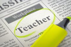 Insegnante Wanted Concetto di ricerca di lavoro 3d Fotografia Stock Libera da Diritti