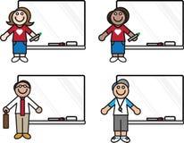 Insegnanti con le schede dell'indicatore Immagini Stock