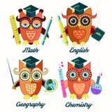 Insegnanti dei gufi royalty illustrazione gratis