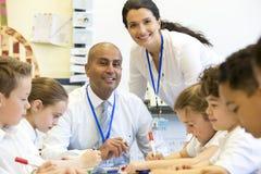 Insegnanti felici a Scool Immagine Stock Libera da Diritti