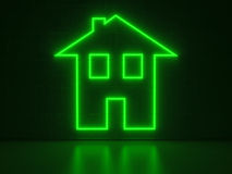 Insegne al neon di casa di serie Immagine Stock Libera da Diritti