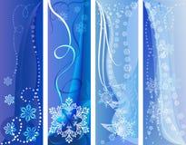 Insegne blu e bianche di inverno Fotografie Stock