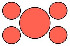 Insegne circolari arancio, confine nero e fondo bianco Uso per scopo dell'illustrazione, fondo, sito Web, commerci, illustrazione vettoriale