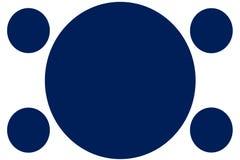 Insegne colorate circolari - cerchi blu scuro Pu? essere usato per scopo dell'illustrazione, il fondo, il sito Web, i commerci, l illustrazione vettoriale