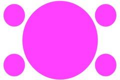 Insegne colorate circolari - cerchi rosa Pu? essere usato per scopo dell'illustrazione, il fondo, il sito Web, i commerci, le pre illustrazione vettoriale