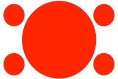 Insegne colorate circolari - cerchi rossi Può essere usato per scopo dell'illustrazione, il fondo, il sito Web, i commerci, le pr royalty illustrazione gratis