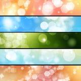 Insegne Defocused degli indicatori luminosi Fotografia Stock