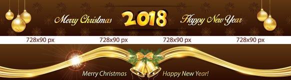 Insegne del Leaderboard per il nuovo anno 2018 illustrazione di stock
