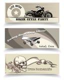 Insegne del motociclista Immagini Stock