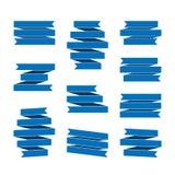Insegne del nastro blu messe Fotografia Stock