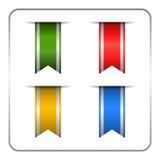 Insegne del segnalibro colorate argento Immagini Stock Libere da Diritti