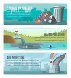 Insegne dell'inquinamento ambientale messe royalty illustrazione gratis