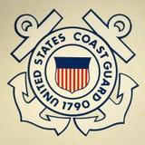 Insegne della guardia costiera degli Stati Uniti Fotografia Stock Libera da Diritti